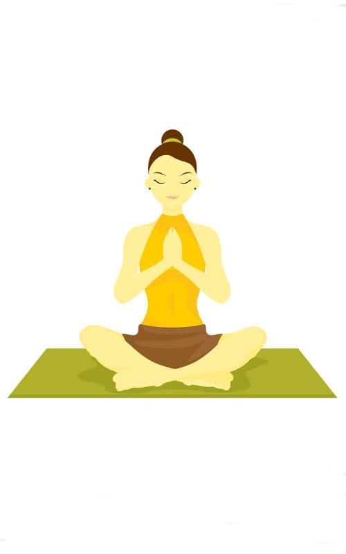 como meditar acostado