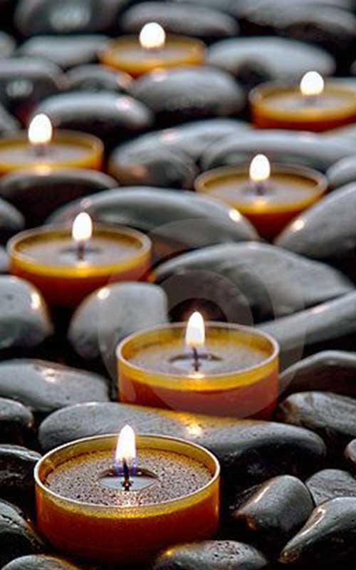 como meditar con una vela