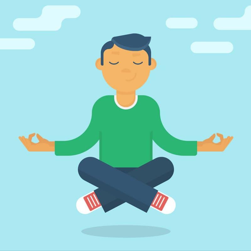como meditar en la cama
